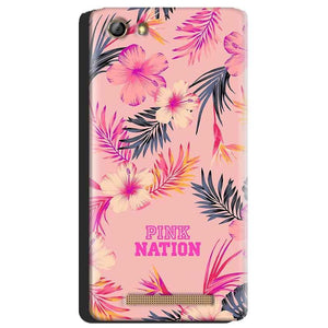 Gionee Marathon M5 Mobile Covers Cases Pink nation - Lowest Price - Paybydaddy.com