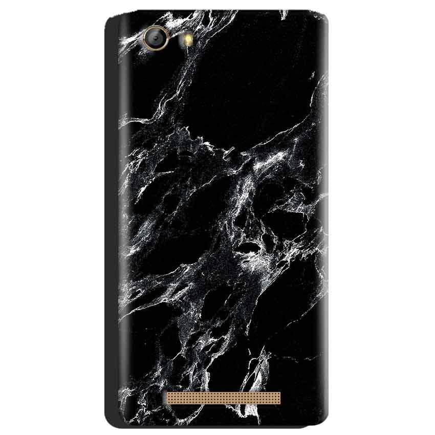 Gionee Marathon M5 Mobile Covers Cases Pure Black Marble Texture - Lowest Price - Paybydaddy.com