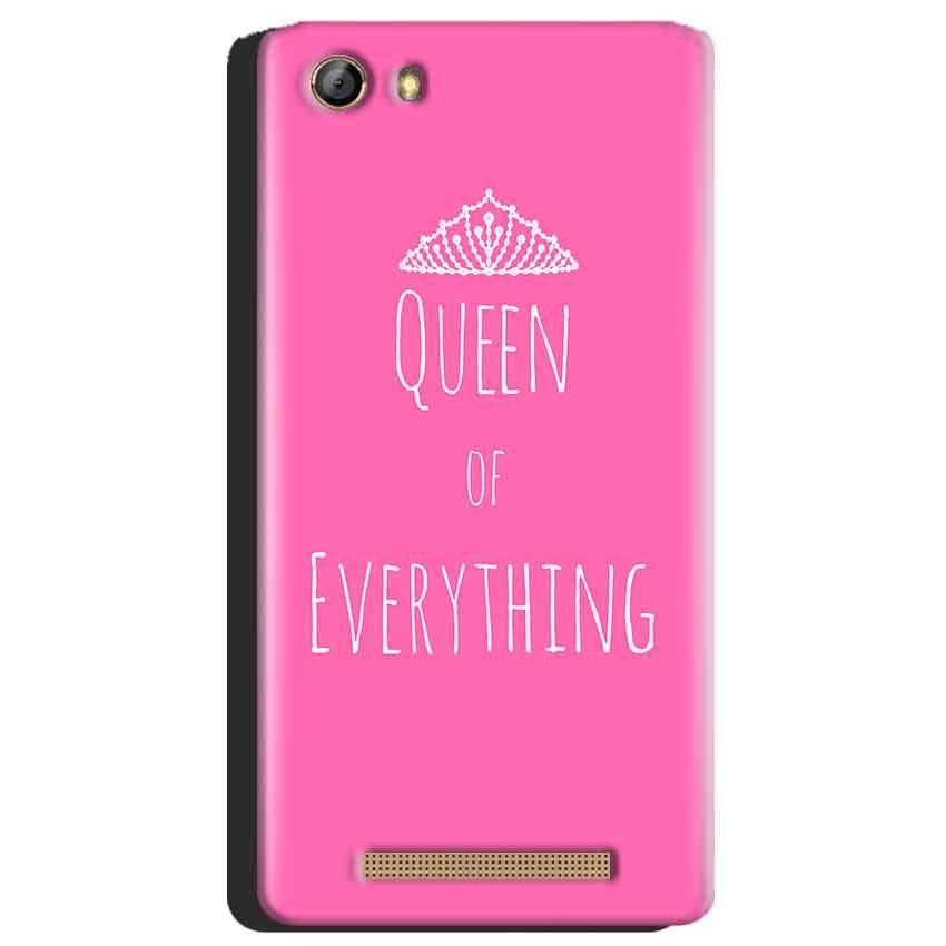 Gionee Marathon M5 Mobile Covers Cases Queen Of Everything Pink White - Lowest Price - Paybydaddy.com
