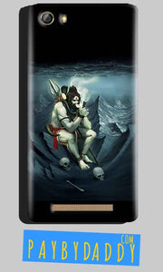 Gionee Marathon M5 Mobile Covers Cases Shiva Smoking - Lowest Price - Paybydaddy.com