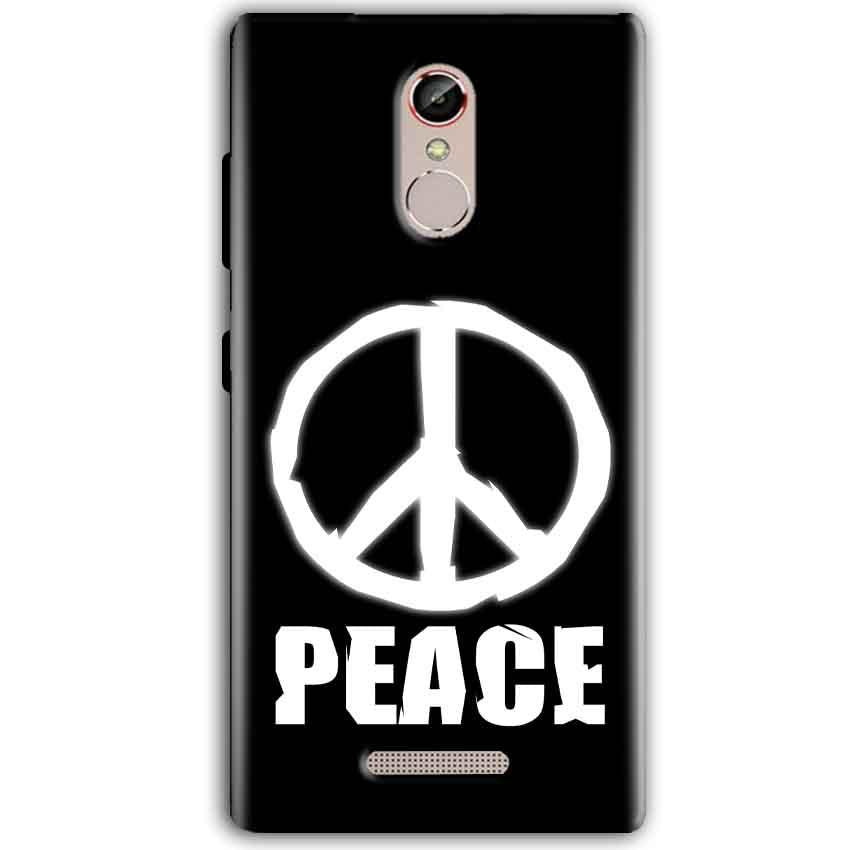 Gionee S6S Mobile Covers Cases Peace Sign In White - Lowest Price - Paybydaddy.com