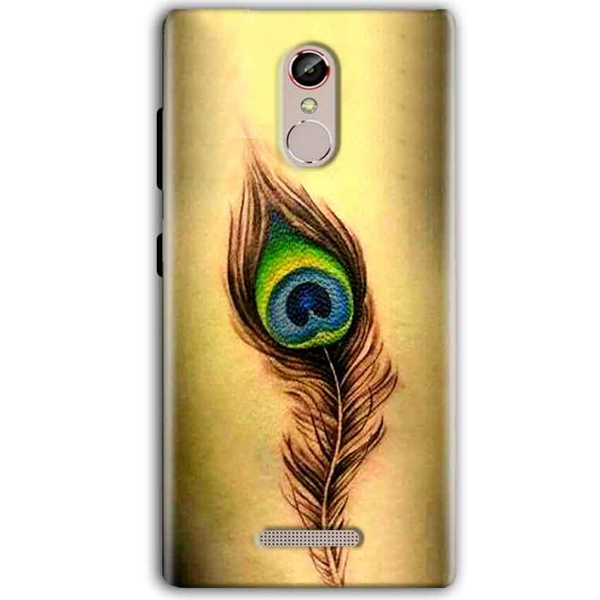 Gionee S6S Mobile Covers Cases Peacock coloured art - Lowest Price - Paybydaddy.com