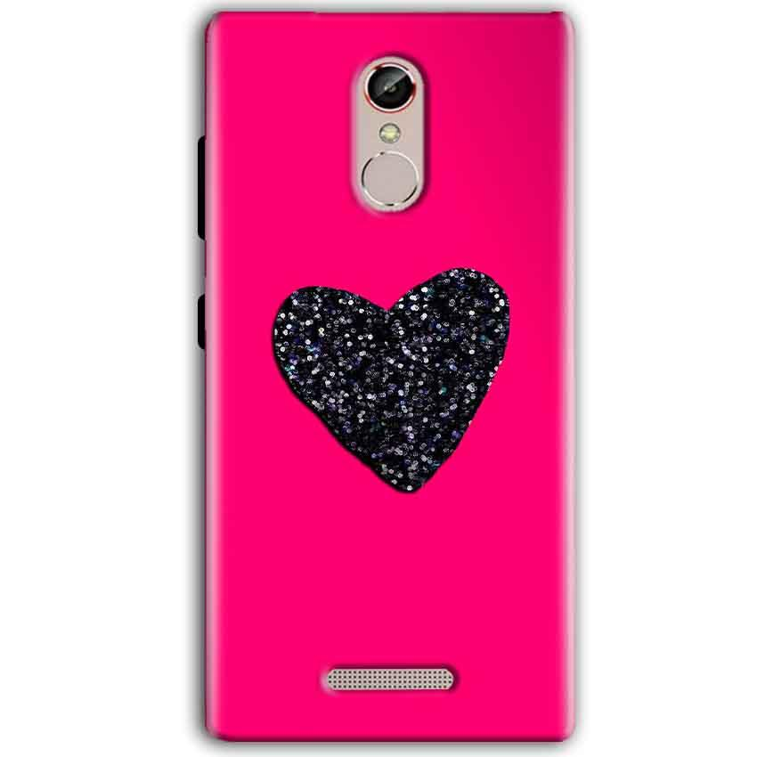Gionee S6S Mobile Covers Cases Pink Glitter Heart - Lowest Price - Paybydaddy.com