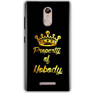 Gionee S6S Mobile Covers Cases Property of nobody with Crown - Lowest Price - Paybydaddy.com