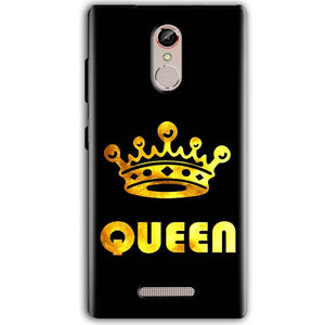 Gionee S6S Mobile Covers Cases Queen With Crown in gold - Lowest Price - Paybydaddy.com