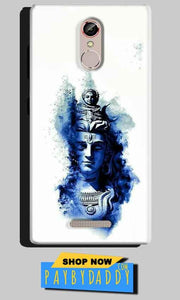 Gionee S6S Mobile Covers Cases Shiva Blue White - Lowest Price - Paybydaddy.com