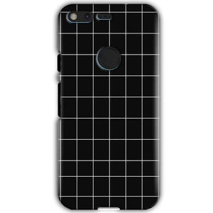 Google Pixel XL Mobile Covers Cases Black with White Checks - Lowest Price - Paybydaddy.com