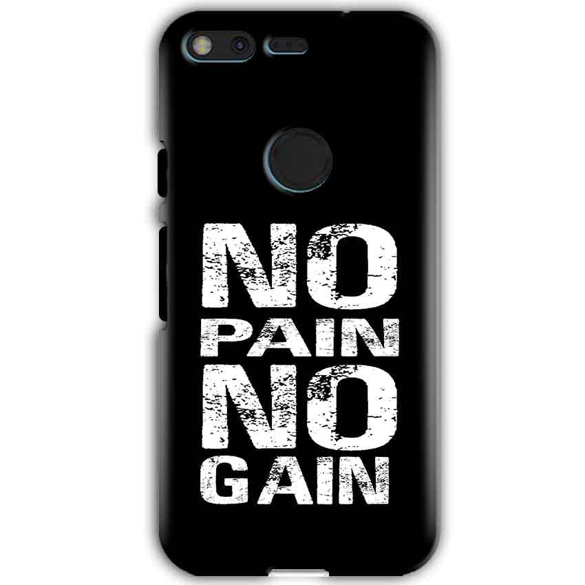 Google Pixel XL Mobile Covers Cases No Pain No Gain Black And White - Lowest Price - Paybydaddy.com