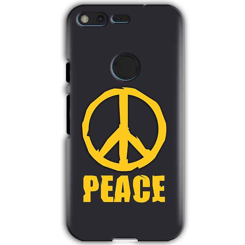 Google Pixel XL Mobile Covers Cases Peace Blue Yellow - Lowest Price - Paybydaddy.com