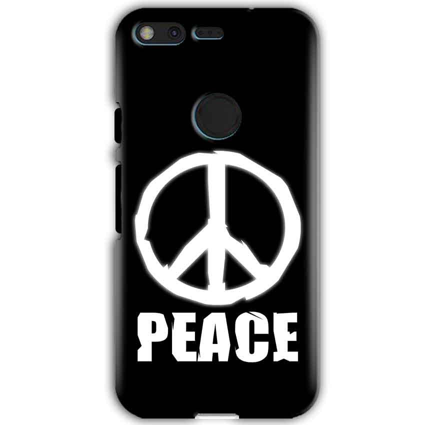 Google Pixel XL Mobile Covers Cases Peace Sign In White - Lowest Price - Paybydaddy.com