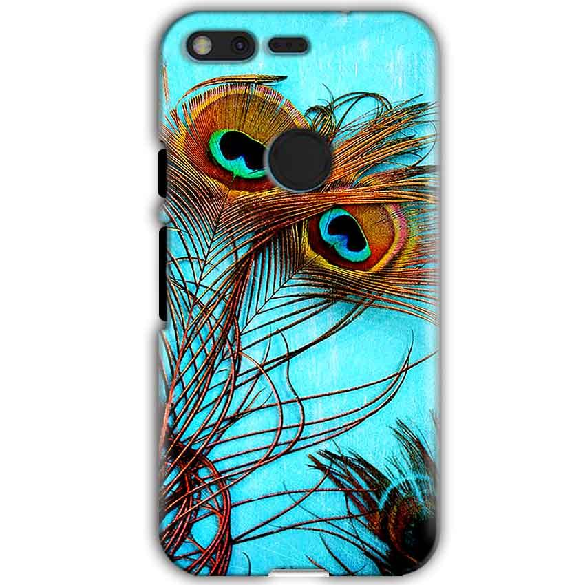 Google Pixel XL Mobile Covers Cases Peacock blue wings - Lowest Price - Paybydaddy.com