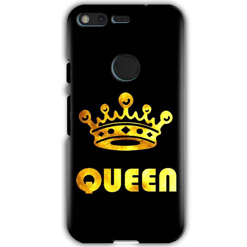 Google Pixel XL Mobile Covers Cases Queen With Crown in gold - Lowest Price - Paybydaddy.com