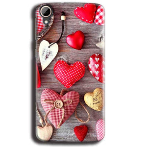 HTC Desire 828 Mobile Covers Cases Hearts- Lowest Price - Paybydaddy.com