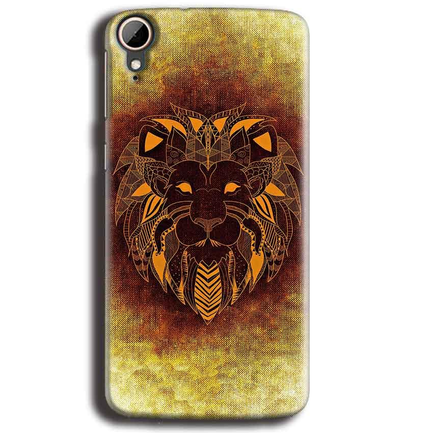 HTC Desire 828 Mobile Covers Cases Lion face art - Lowest Price - Paybydaddy.com