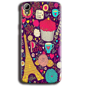 HTC Desire 828 Mobile Covers Cases Paris Sweet love - Lowest Price - Paybydaddy.com