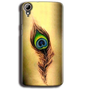 HTC Desire 828 Mobile Covers Cases Peacock coloured art - Lowest Price - Paybydaddy.com