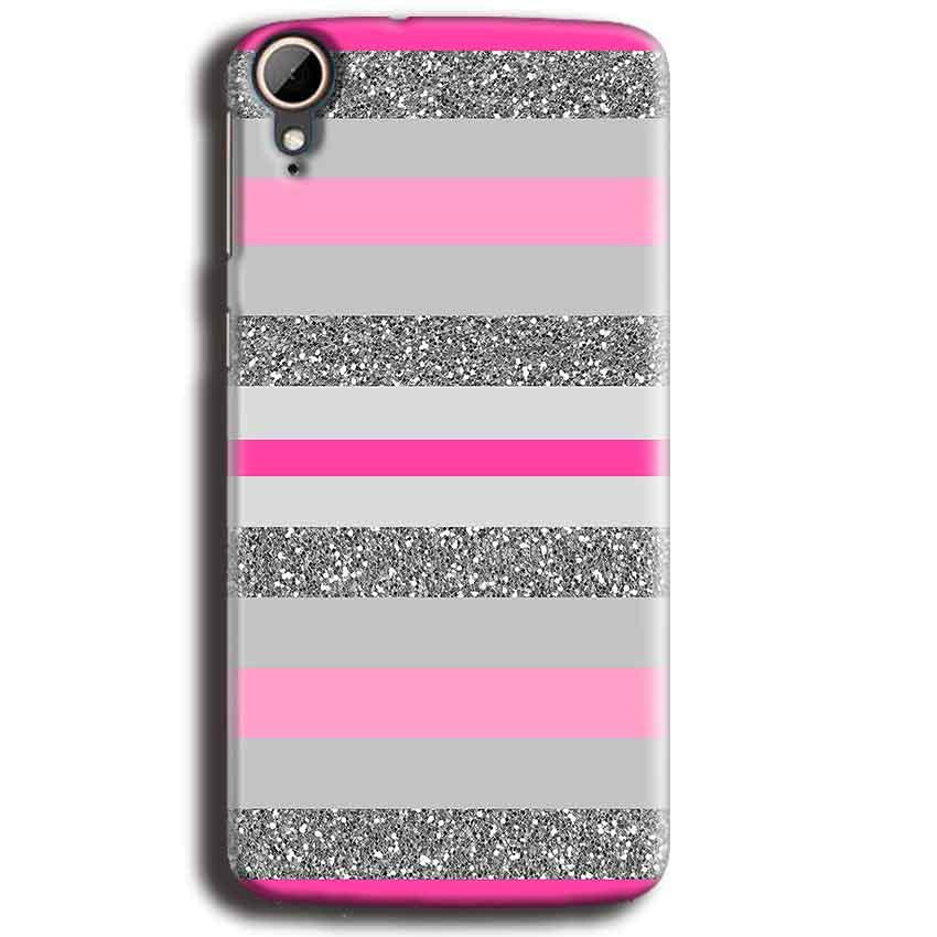 HTC Desire 828 Mobile Covers Cases Pink colour pattern - Lowest Price - Paybydaddy.com
