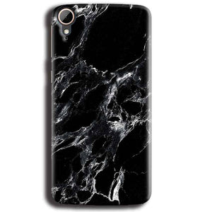 HTC Desire 828 Mobile Covers Cases Pure Black Marble Texture - Lowest Price - Paybydaddy.com