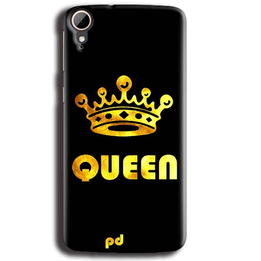 HTC Desire 828 Mobile Covers Cases Queen With Crown in gold - Lowest Price - Paybydaddy.com