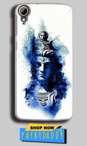 HTC Desire 828 Mobile Covers Cases Shiva Blue White - Lowest Price - Paybydaddy.com
