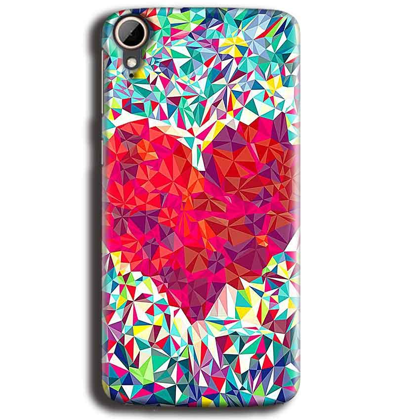 HTC Desire 828 Mobile Covers Cases heart Prisma design - Lowest Price - Paybydaddy.com