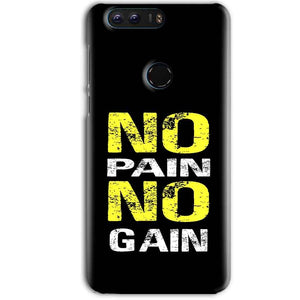 Huawei Honor 8 Pro Mobile Covers Cases No Pain No Gain Yellow Black - Lowest Price - Paybydaddy.com