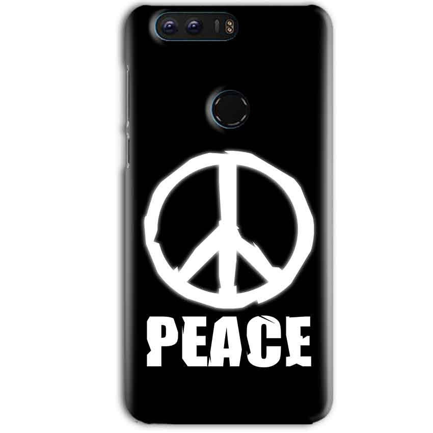 Huawei Honor 8 Pro Mobile Covers Cases Peace Sign In White - Lowest Price - Paybydaddy.com