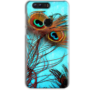 Huawei Honor 8 Pro Mobile Covers Cases Peacock blue wings - Lowest Price - Paybydaddy.com
