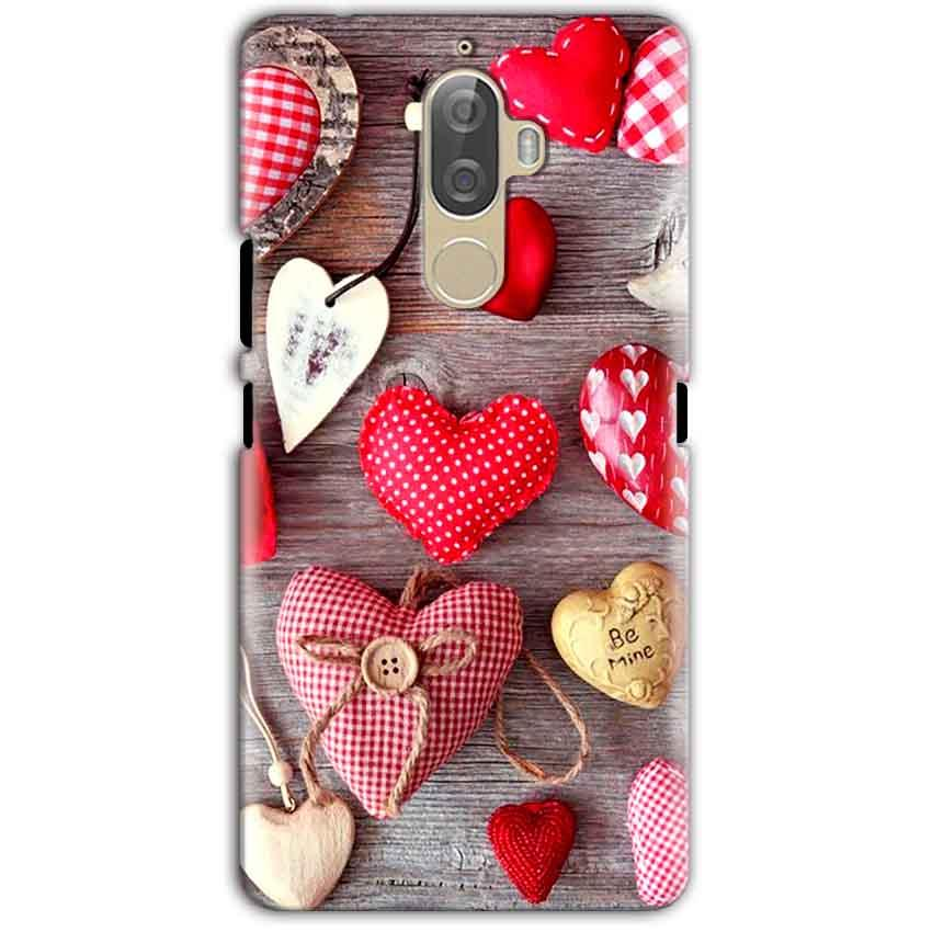 Lenovo K8 Note Mobile Covers Cases Hearts- Lowest Price - Paybydaddy.com