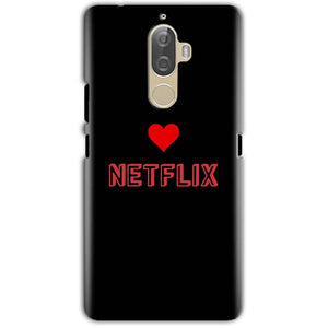 Lenovo K8 Note Mobile Covers Cases NETFLIX WITH HEART - Lowest Price - Paybydaddy.com