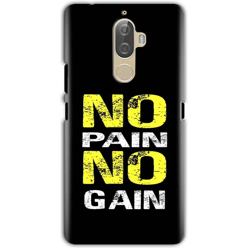 Lenovo K8 Note Mobile Covers Cases No Pain No Gain Yellow Black - Lowest Price - Paybydaddy.com