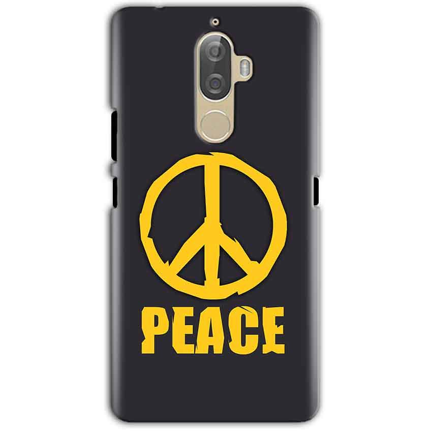 Lenovo K8 Note Mobile Covers Cases Peace Blue Yellow - Lowest Price - Paybydaddy.com
