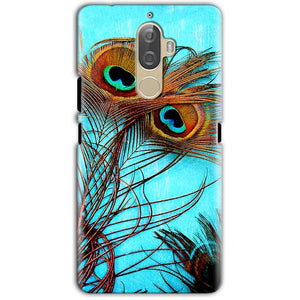 Lenovo K8 Note Mobile Covers Cases Peacock blue wings - Lowest Price - Paybydaddy.com