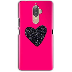 Lenovo K8 Note Mobile Covers Cases Pink Glitter Heart - Lowest Price - Paybydaddy.com
