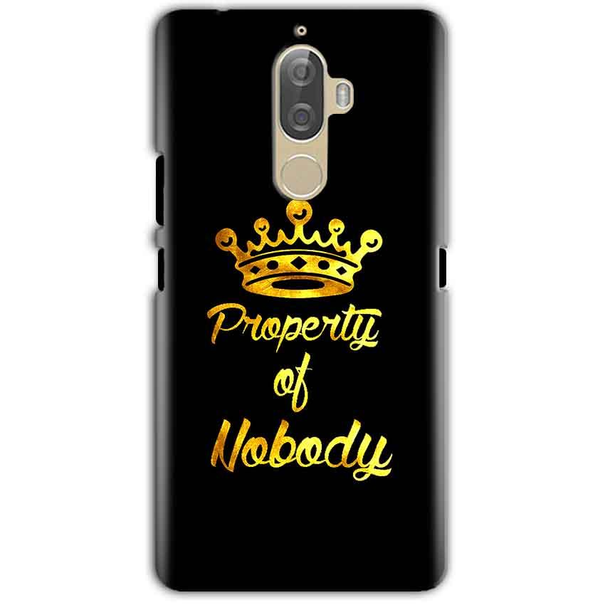 Lenovo K8 Note Mobile Covers Cases Property of nobody with Crown - Lowest Price - Paybydaddy.com