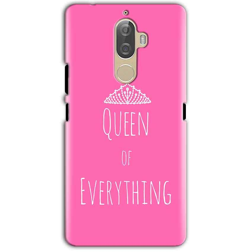Lenovo K8 Note Mobile Covers Cases Queen Of Everything Pink White - Lowest Price - Paybydaddy.com