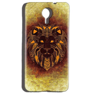 Micromax Canvas Nitro 4g E455 Mobile Covers Cases Lion face art - Lowest Price - Paybydaddy.com