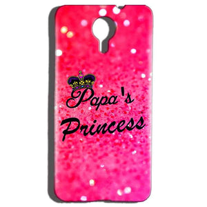 Micromax Canvas Nitro 4g E455 Mobile Covers Cases PAPA PRINCESS - Lowest Price - Paybydaddy.com
