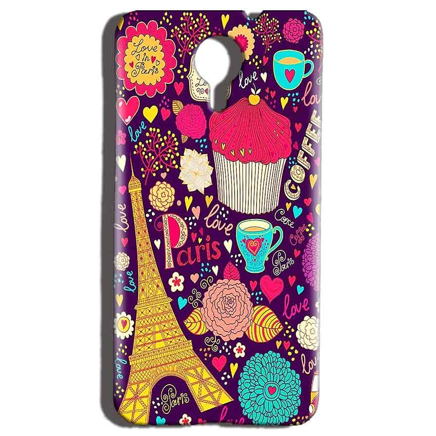 Micromax Canvas Nitro 4g E455 Mobile Covers Cases Paris Sweet love - Lowest Price - Paybydaddy.com