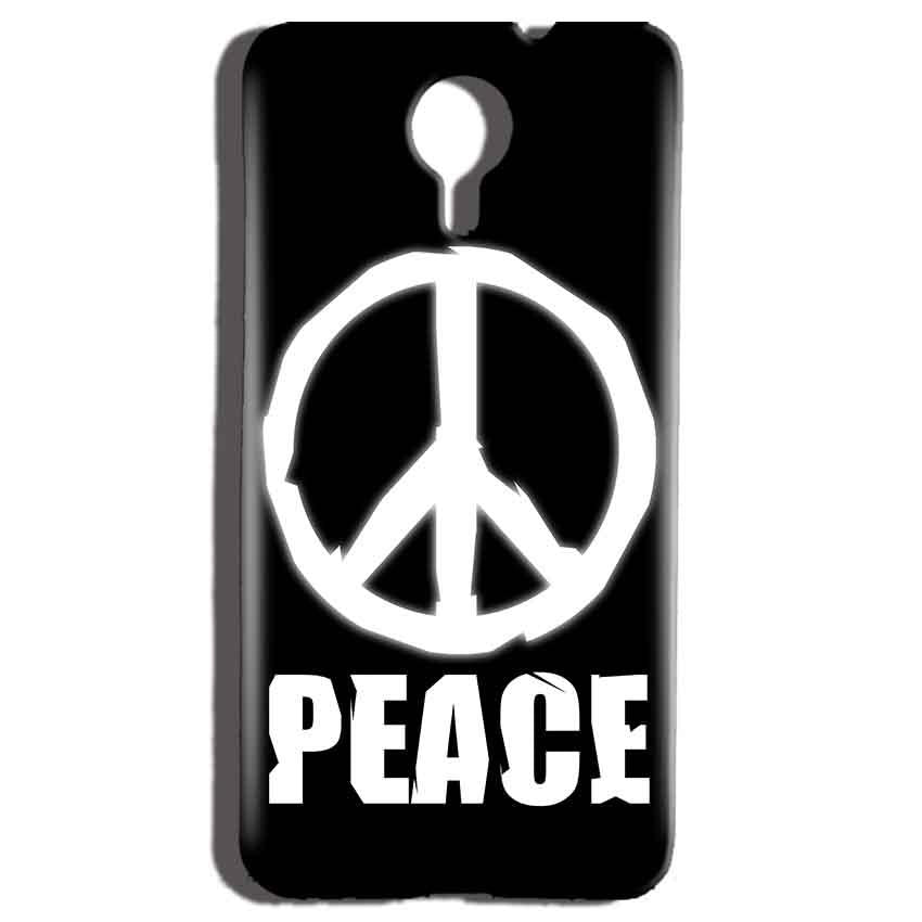 Micromax Canvas Nitro 4g E455 Mobile Covers Cases Peace Sign In White - Lowest Price - Paybydaddy.com