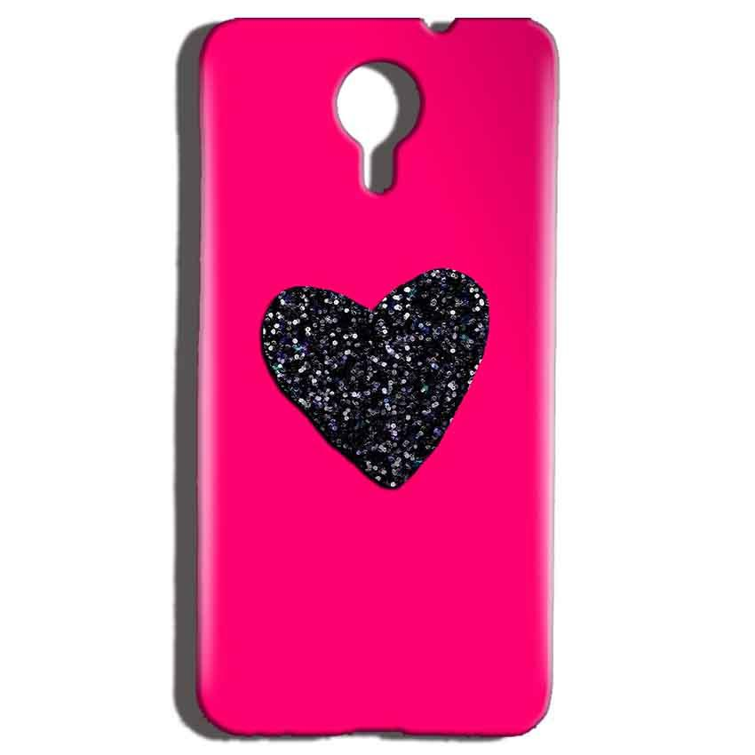 Micromax Canvas Nitro 4g E455 Mobile Covers Cases Pink Glitter Heart - Lowest Price - Paybydaddy.com