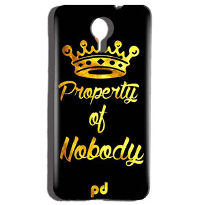 Micromax Canvas Nitro 4g E455 Mobile Covers Cases Property of nobody with Crown - Lowest Price - Paybydaddy.com