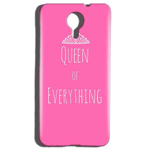 Micromax Canvas Nitro 4g E455 Mobile Covers Cases Queen Of Everything Pink White - Lowest Price - Paybydaddy.com