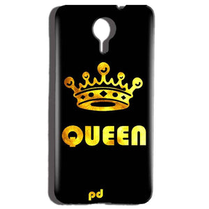 Micromax Canvas Nitro 4g E455 Mobile Covers Cases Queen With Crown in gold - Lowest Price - Paybydaddy.com