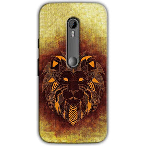Moto G Turbo Edition Mobile Covers Cases Lion face art - Lowest Price - Paybydaddy.com