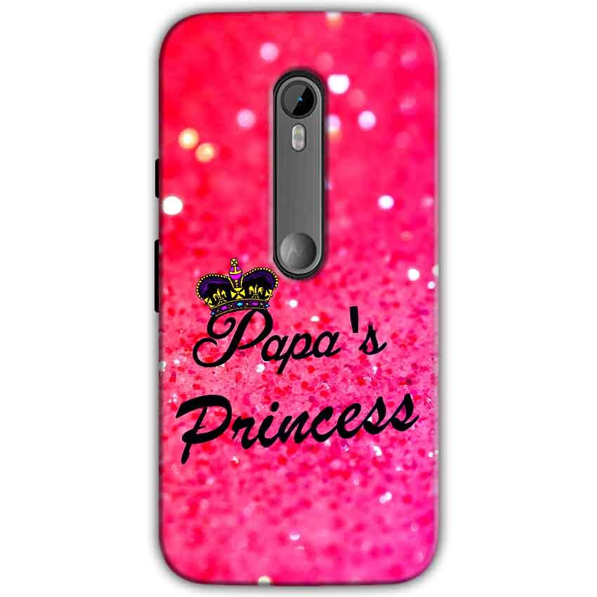 Moto G Turbo Edition Mobile Covers Cases PAPA PRINCESS - Lowest Price - Paybydaddy.com