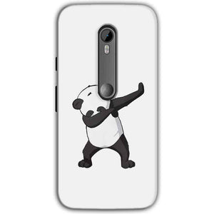 Moto G Turbo Edition Mobile Covers Cases Panda Dab - Lowest Price - Paybydaddy.com