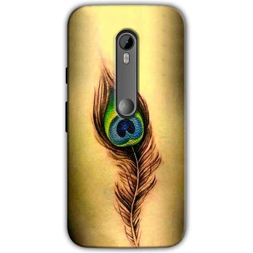 Moto G Turbo Edition Mobile Covers Cases Peacock coloured art - Lowest Price - Paybydaddy.com