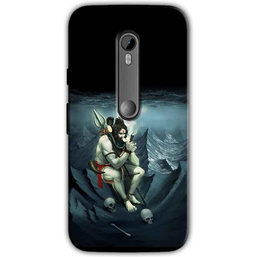 Moto G Turbo Edition Mobile Covers Cases Shiva Smoking - Lowest Price - Paybydaddy.com