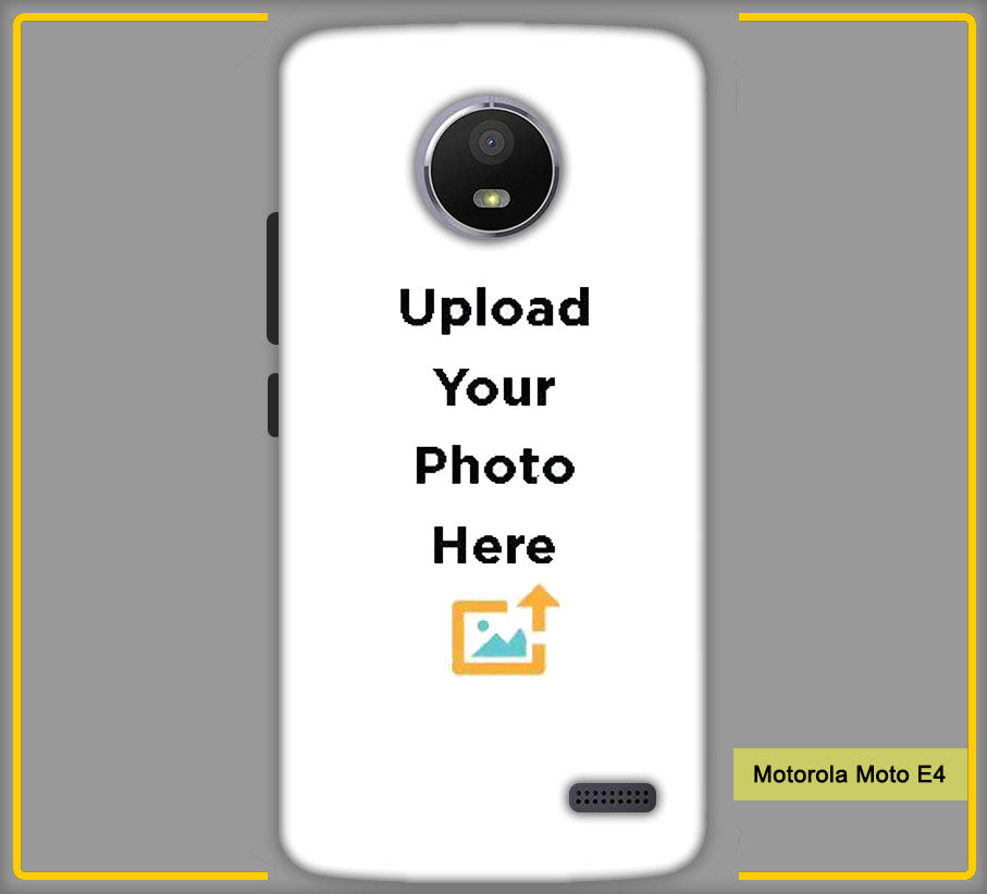 Customized Motorola Moto E4 Mobile Phone Covers & Back Covers with your Text & Photo